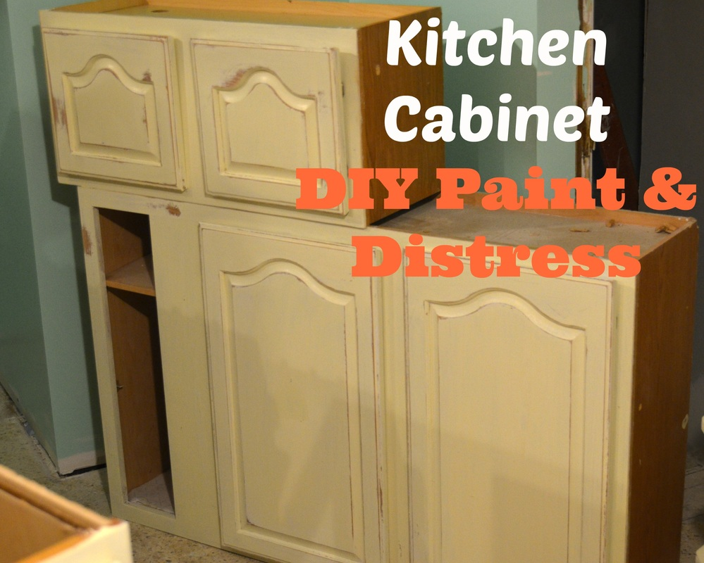 Kitchen Cabinet DIY Paint & Distress - Charity Jean ...